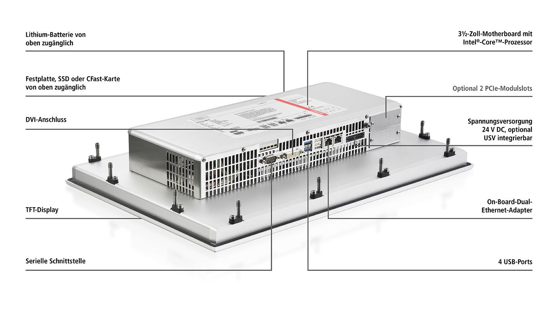 CP22xx-0030   Multitouch-Einbau-Panel-PC