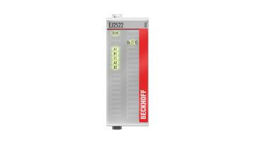 EJ2522 | EtherCAT plug-in module, 2-channel pulse train output, incr. enc. simulation, RS422, 50mA