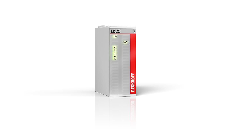 EJ2522 | EtherCAT-Steckmodul, 2-Kanal-Pulse-Train-Ausgang, Inkr.-Enc.-Simulation, RS422, 50mA