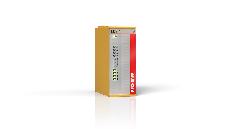 EJ2914 | EtherCAT plug-in module, 4-channel digital output, 24VDC, 0.5A, TwinSAFE, TwinSAFE Logic