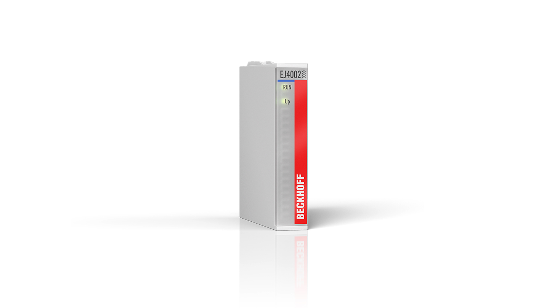 EJ4002 | EtherCAT plug-in module, 2-channel analog output, voltage, 0…10V, 12bit