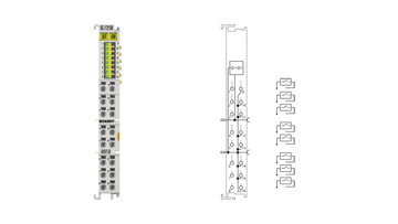 EL1258-0010 | EtherCAT Terminal, 8-channel digital input, 24VDC, 1µs, ground switching, multi-timestamping