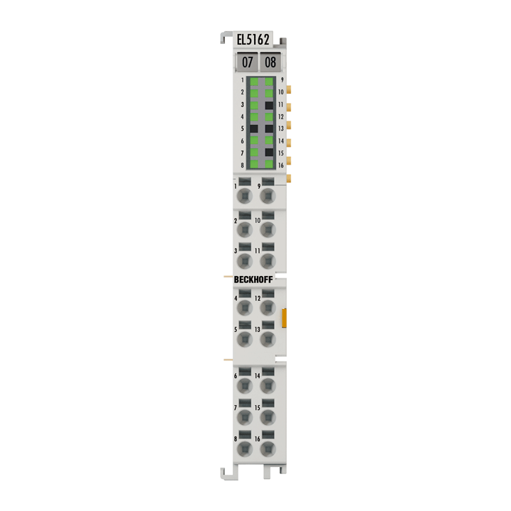 EL5162 | EtherCAT-Klemme, 2-Kanal-Encoder-Interface, Inkremental, 24 V DC HTL, 100 kHz, 2 x ABC