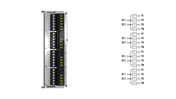 ELM2644-0000 | 4-channel multiplexer, 1 x 4 reed relays 48 V AC/DC, 0.5 A, potential-free make contacts