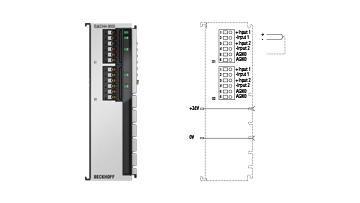 ELM3344-0000 | EtherCAT Terminal, 4-channel analog input, thermocouple, 24bit, high-precision, 1kSps