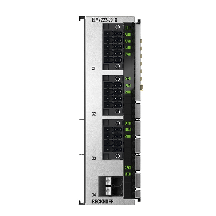 ELM7222-9018 | EtherCAT Terminal, 2-channel motion interface, servo motor, 48VDC, 8A, OCT, STO, Safe Motion, TwinSAFE Logic