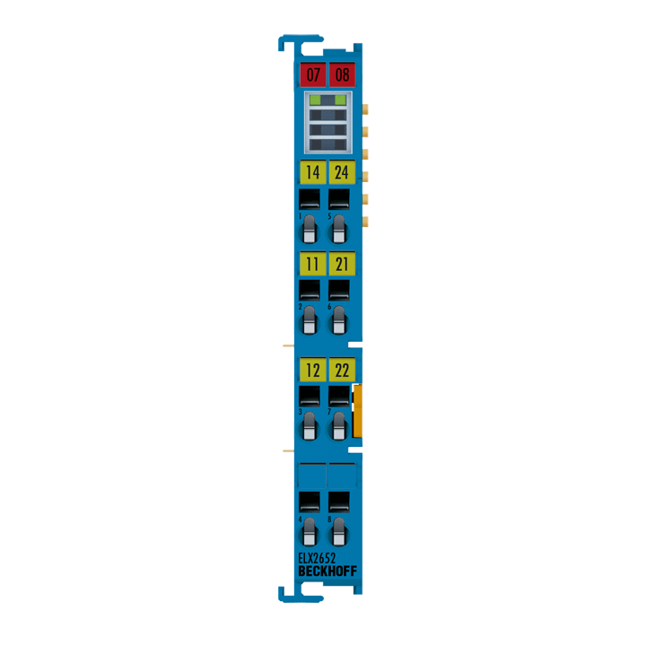ELX2652 | EtherCAT Terminal, 2-channel relay output, potential-free, Exi