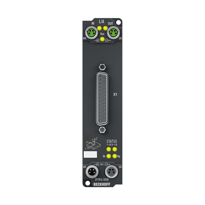 EP1816-3008   16-Kanal-Digital-Eingang 24 V DC, 2 x 3-Achs-Beschleunigungssensor