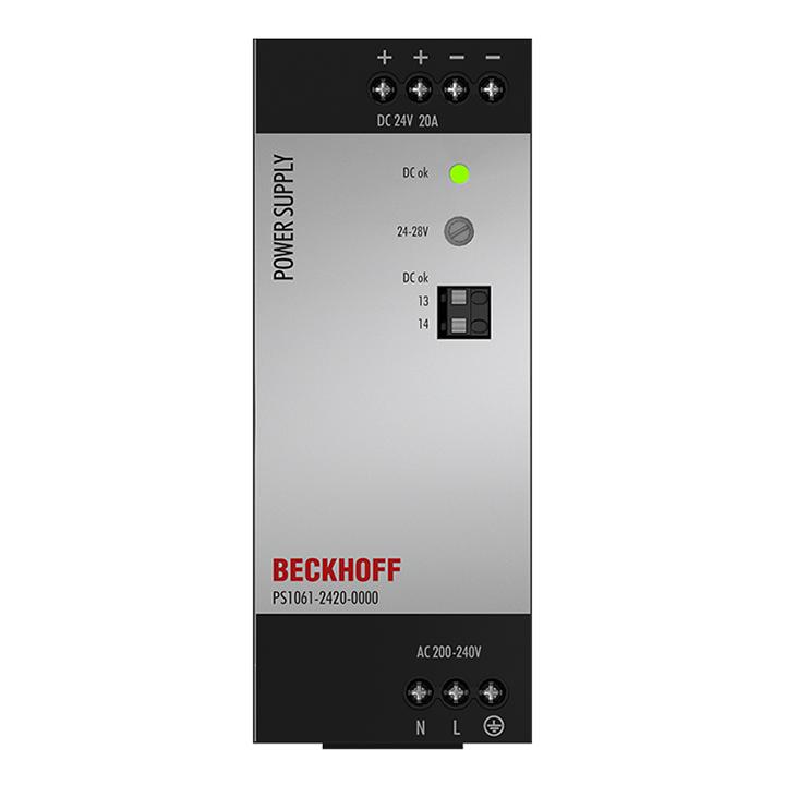 PS1061-2420-0000   Stromversorgung PS1000; Ausgang: 24VDC, 20A; Eingang: AC200…240V, 1-phasig
