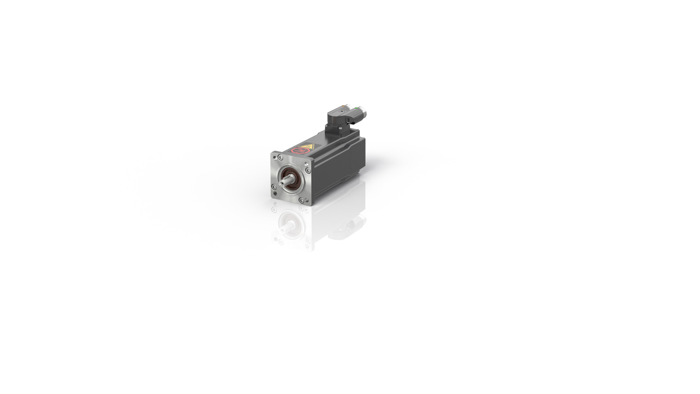 Servomotor without fan, resolver