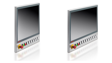 C9900-G02x | Push-button extension for CP39xx multi-touch panels with mounting arm