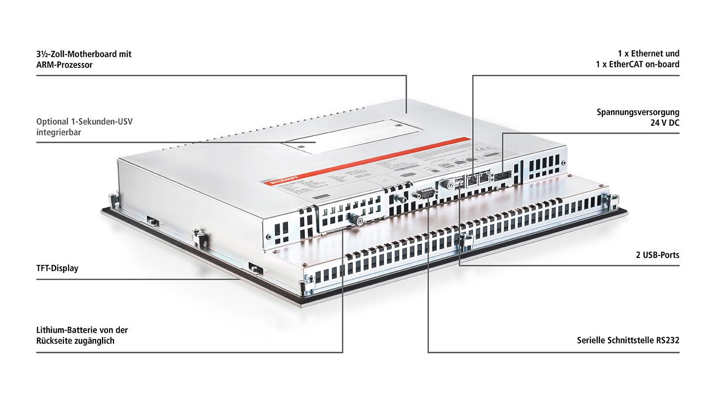 CP66xx-xxxx-0020   Panel-PC mit ARM Cortex™-A8
