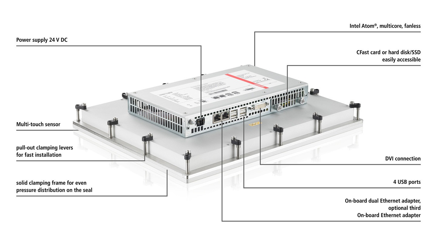 CPX27xx-0010 | Fanless multi-touch built-in Panel PC