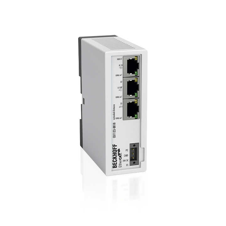 CU1123-0010 | Infrastructure, 3-port junction, EtherCAT, 100Mbit/s, 24VDC, RJ45, Extended Distance