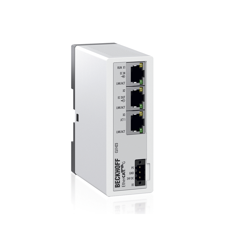 CU1423 | Infrastructure, 3-port junction, EtherCAT G, 1 Gbit/s, 24 V DC, RJ45