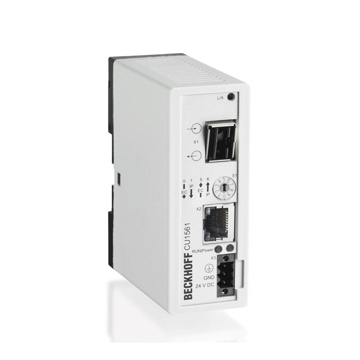 CU1561 | Infrastructure, media converter, Ethernet/EtherCAT, 100Mbit/s, 24VDC, LWL POF