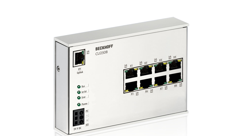 CU2508 | Infrastructure, 8-port port multiplier, Ethernet, 24VDC, RJ45