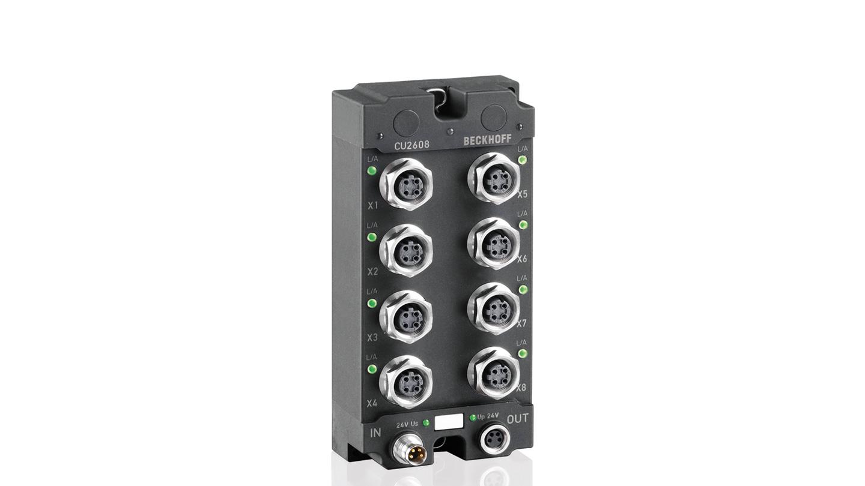 CU2608 | 8-port switch, Ethernet, 100MBit/s, IP 67
