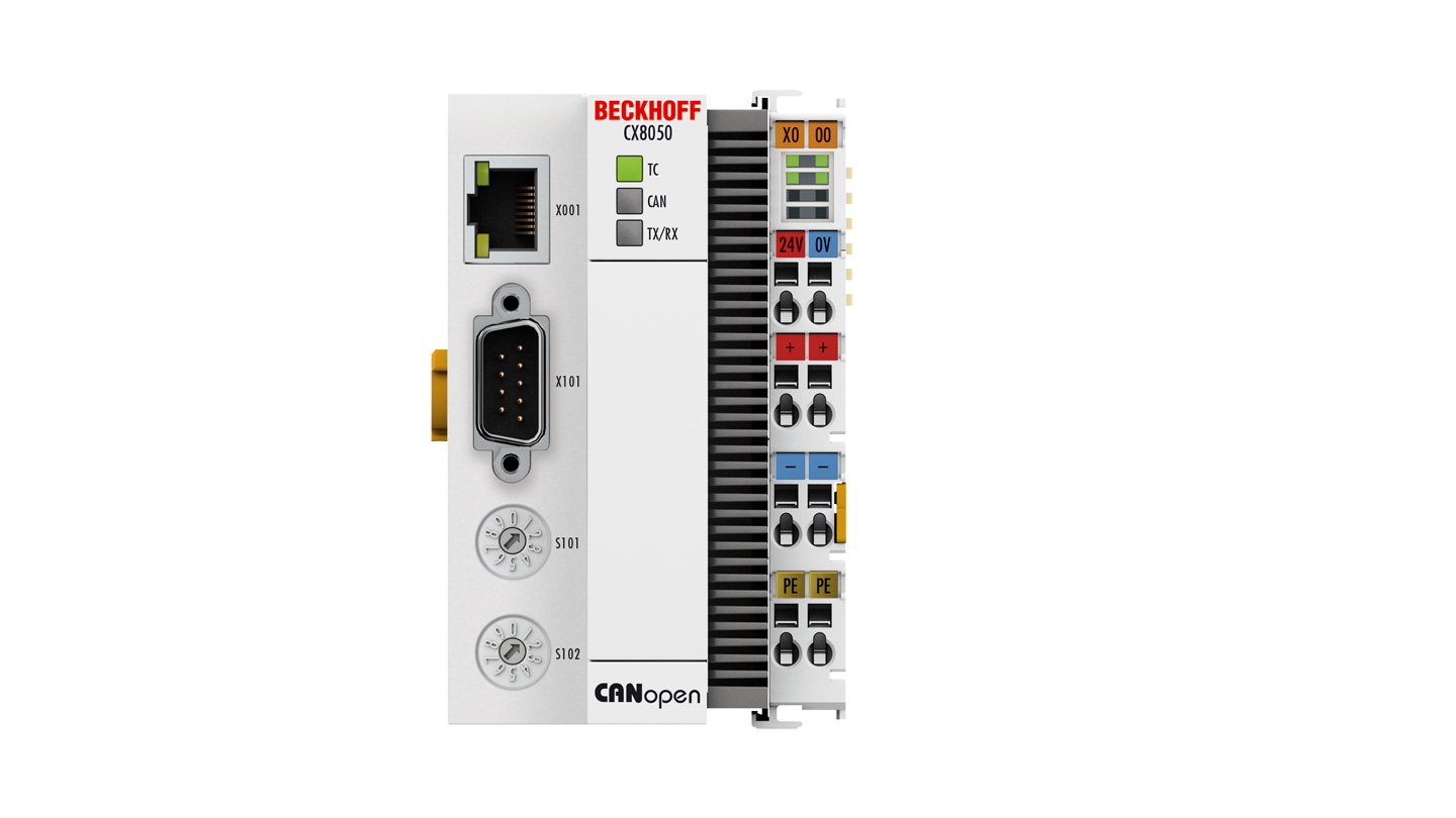 CX8050   Embedded PC with CANopen master