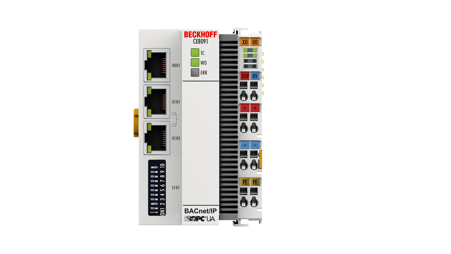 CX8091   Embedded PC with BACnet/IP or OPC UA