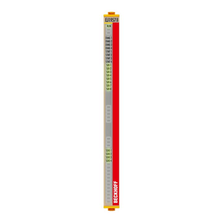 EJ1957 | EtherCAT plug-in module, 8-channel digital input + 4-channel digital output, 24VDC, 0.5A, TwinSAFE, TwinSAFE Logic