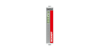 EJ6224   EtherCAT plug-in module, 4-channel communication interface, IO-Link, master