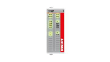 EJ7047 | Stepper motor module 48VDC, 5A, with incremental encoder, vector control