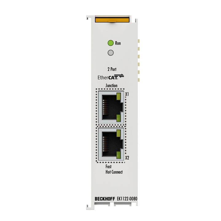 EK1122-0080 | 2-port EtherCAT junction, Fast Hot Connect