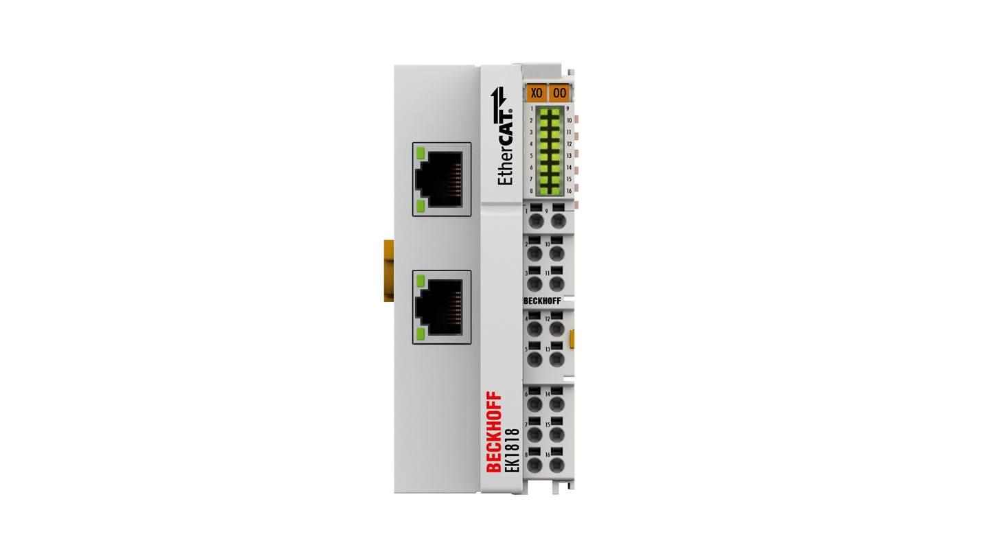 EK1818 | EtherCAT Coupler with integrated digital inputs/outputs