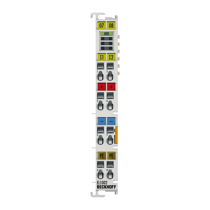 EL1002 | EtherCAT Terminal, 2-channel digital input, 24VDC, 3ms