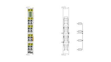 EL1008 | EtherCAT Terminal, 8-channel digital input, 24VDC, 3ms