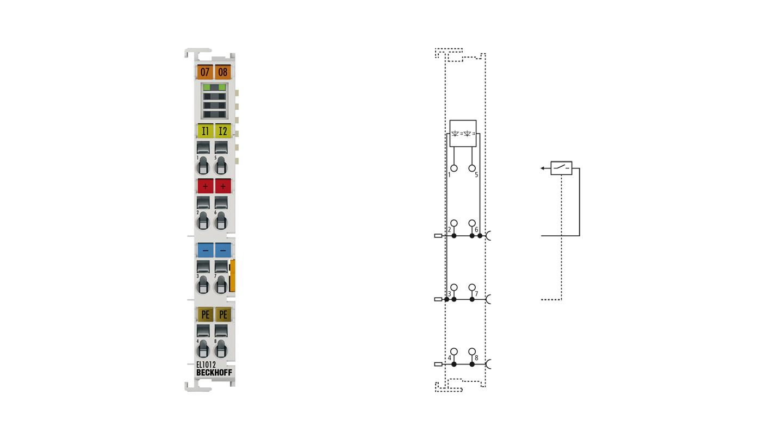 EL1012 | EtherCAT Terminal, 2-channel digital input, 24VDC, 10µs