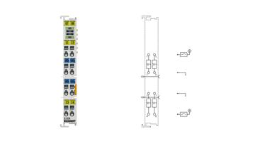 EL1034 | 4-channel digital input terminal 24VDC, potential-free inputs