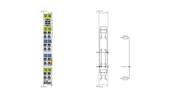 EL1084 | EtherCAT Terminal, 4-channel digital input, 24VDC, 3ms, ground switching