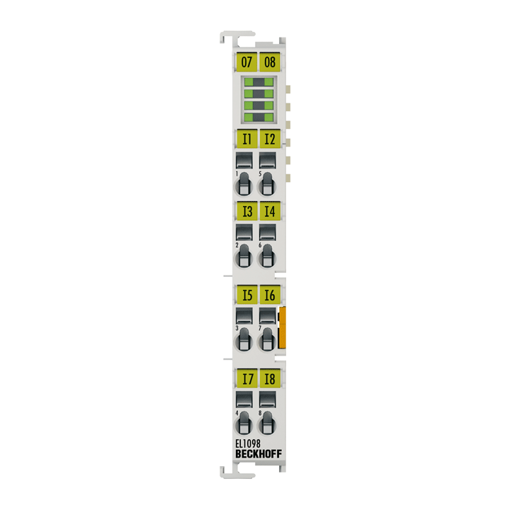 EL1098 | EtherCAT Terminal, 8-channel digital input, 24VDC, 10µs, ground switching
