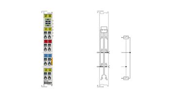 EL1114 | EtherCAT Terminal, 4-channel digital input, 24VDC, 10µs, 2-/3-wire connection