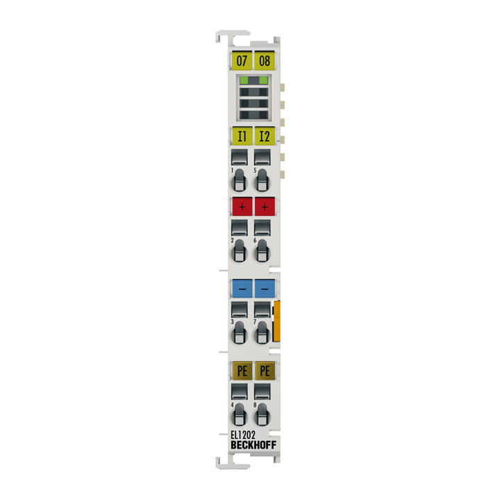 EL1202 | 2-Kanal-Digital-Eingangsklemme 24VDC, TON/TOFF 1µs