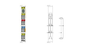 EL1254 | 4-channel digital input terminal 24VDC, filter 1µs, timestamping