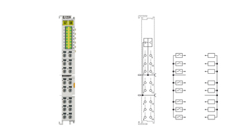 EL1259 | 8-Kanal-Digital-Eingang + 8‑Kanal-Digital-Ausgang mit Multi-Timestamp