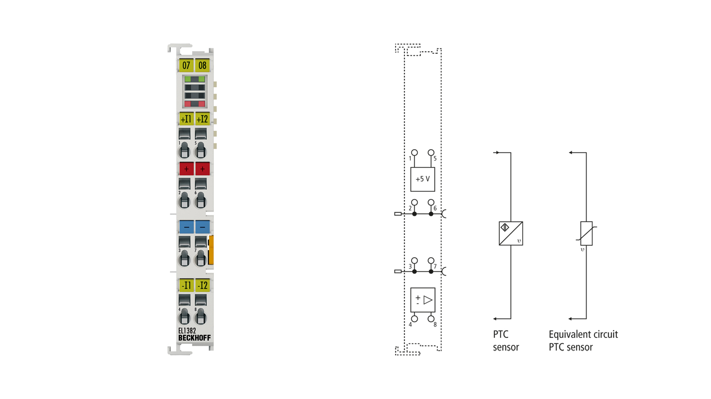 EL1382 | 2-Kanal-Digital-Eingangsklemme Thermistor