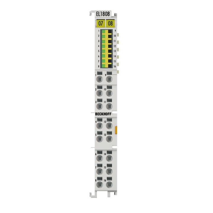 EL1808 | EtherCAT Terminal, 8-channel digital input, 24VDC, 3ms, 2-wire connection