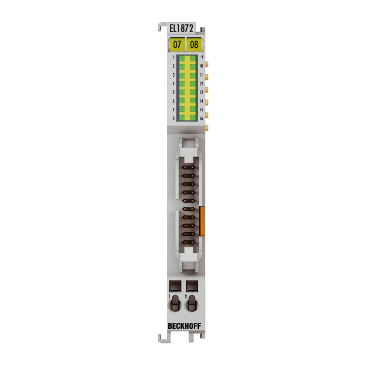 EL1872-0010 | 16-channel digital input terminal 24VDC, type 3, flat-ribbon cable connection, ground switching
