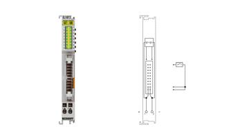EL1872 | EtherCAT Terminal, 16-channel digital input, 24VDC, 10µs, flat-ribbon cable