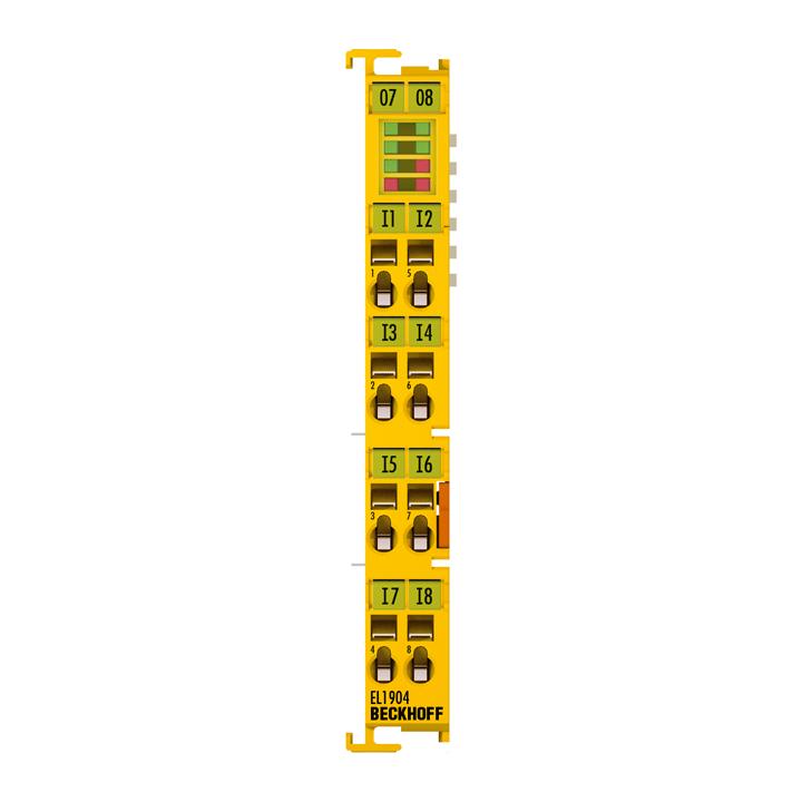 EL1904 | 4-channel digital input terminal, TwinSAFE, 24VDC
