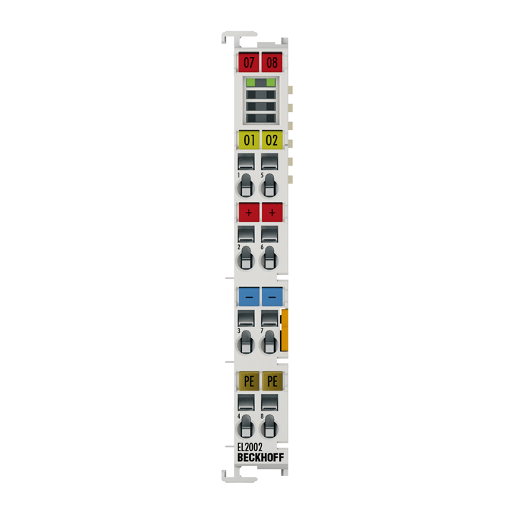 EL2002 | 2-Kanal-Digital-Ausgangsklemme 24VDC, 0,5A