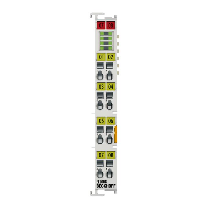 EL2008 | EtherCAT Terminal, 8-channel digital output, 24VDC, 0.5A