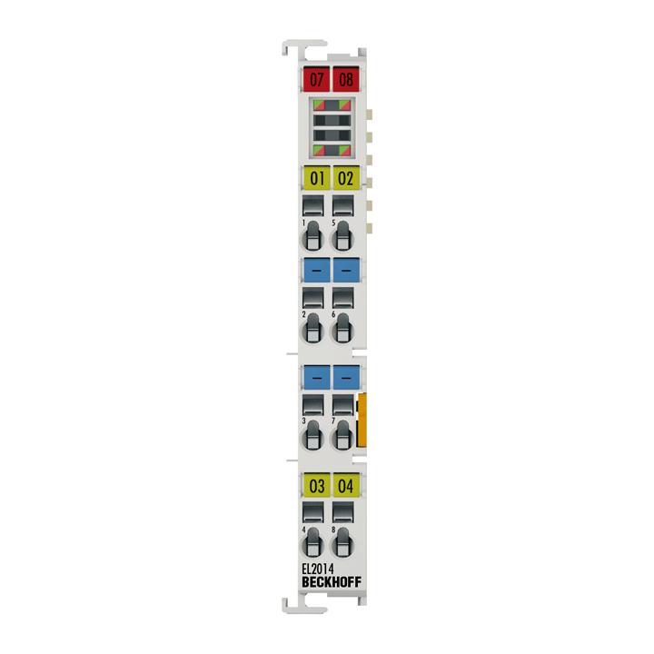 EL2014 | 4-channel digital output terminal 24VDC, 0.5A, with diagnostics
