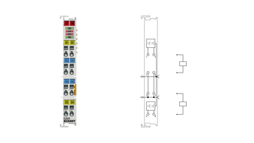 EL2034 | EtherCAT Terminal, 4-channel digital output, 24VDC, 2A, with diagnostics