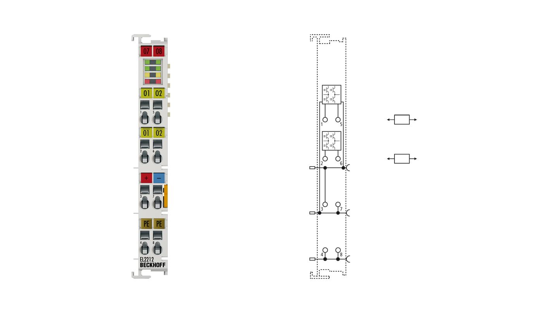 EL2212 | 2-Kanal-Digital-Ausgangsklemme 24…72VDC mit Übererregung, Multi-Timestamp