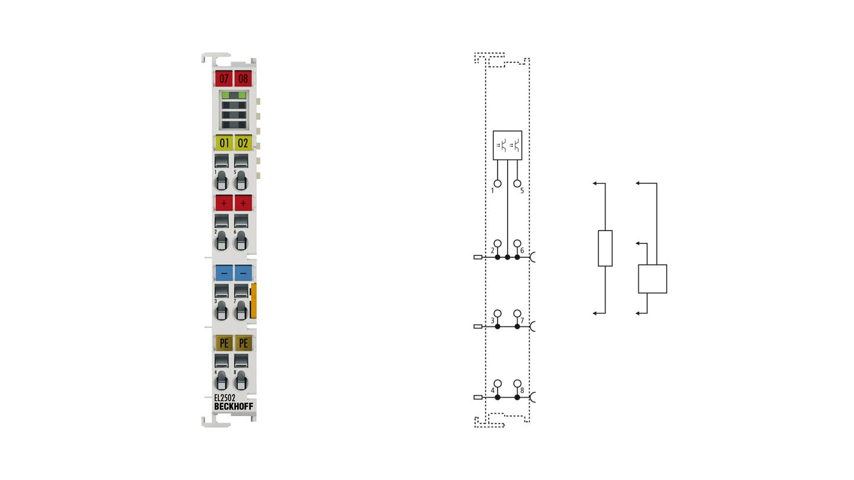 EL2502 | EtherCAT Terminal, 2-channel PWM output, 24VDC, 0.5A